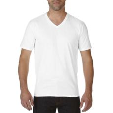 GILDAN V nyaku prémium pamut póló, fehér (Gildan V nyaku prémium pamut póló, fehér)