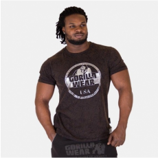 ROCKLIN T-SHIRT - BLACK/BROWN/SILVER (BLACK) [4XL]