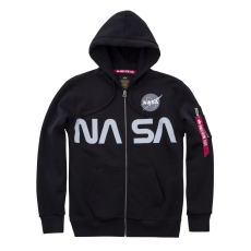 Alpha Indsutries NASA Zip Hoody- fekete