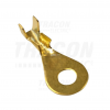 TRACON HSZ4 4,3mm szigeteletlen szemes saru, M4 csavarhoz