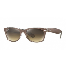 Ray-Ban RB2132_614585 NEW WAYFARER TOP BRUSHED BROWN ON TRANSP BROWN GRADIENT DARK BROWN napszemüveg