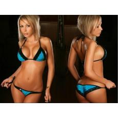 Sexy Kék,Csipke Bikini-Egyméretes