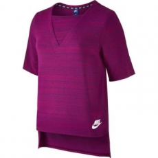 Nike Advance 15 női póló, Berry / White, L (838954-665-L)