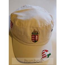Militari sapka világos bézs címeres Nagy- Magyarországos