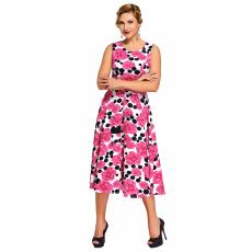 Rózsaszín virágos nyári ruha