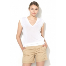 United Colors of Benetton Fehér Enyhén Áttetsző Dzsörzé Top XL (14KKD8082-101-XL)