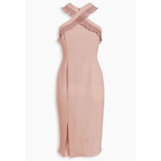 Next TBC NEXT Blush Cross Front Bodycon 12 (757279-PINK-12)