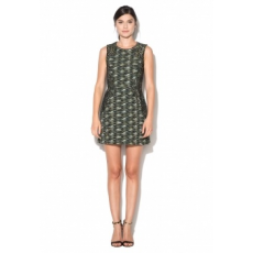 FRENCH CONNECTION Zöld & Fekete Ruha 10 (71GBP-OLIVE-NIGHT-MULTI-10)
