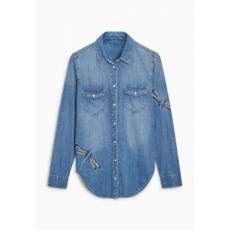 Next TBC NEXT Mid Blue Embroidered Dragonfly Shirt 6 (447219-BLUE-6)