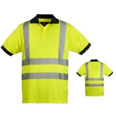 MV HI-VIZ fényvisszaverő póló galléros sárga M-XXXL méretek 70270-274