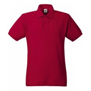 Fruit of the Loom Heavy galléros póló Brick Red 63-000 S-XXXL (240g/m2)