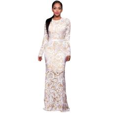 Fehér,áttetsző,elegáns ruha