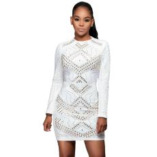 Fehér elől mintás ruha