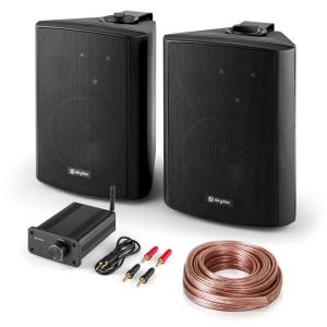 Electronic-Star Bluetooth Play BK, PA HiFi készlet, két hangfal, mini erősítő bluetooth-tal, kábel