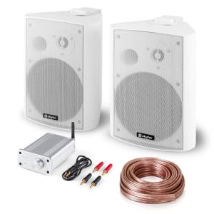 Electronic-Star Bluetooth Play WH, PA HiFi készlet, két hangfal, mini erősítő bluetooth-tal, kábel