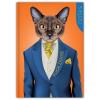DAYLINER Colors, A5 Notes, vonalas jegyzet, Mr. Cat
