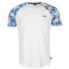 Fabric Floral Ragln Snr73 férfi póló fehér M