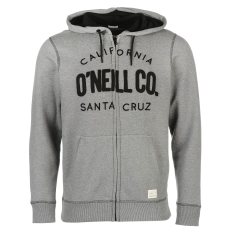 Oneill Santa Cruz férfi kapucnis cipzáras pulóver szürke S