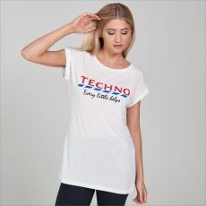 SportFX Slogan női póló fehér S