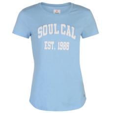 SoulCal Deluxe Graphic női póló kék L