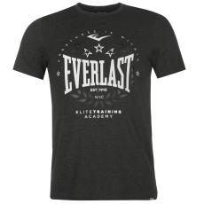 Everlast Logo férfi kereknyakú pamut póló sötétszürke 3XL