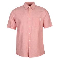 Pierre Cardin Férfi rövid ujjú pamut ing rózsaszín M