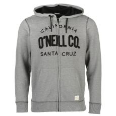 Oneill Santa Cruz férfi kapucnis cipzáras pulóver szürke M