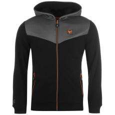 Everlast Premium férfi kapucnis cipzáras pulóver fekete L