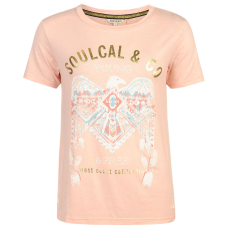 SoulCal StepHem női póló barack M