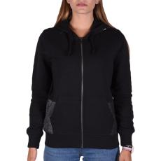 Converse Metallic Fz Hoodie női cipzáras pulóver fekete L