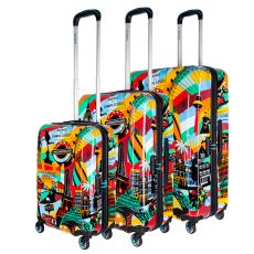 BG Berlin Lobo Europe Style Urbe bőrönd szett mintás 20 inch