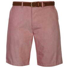 Pierre Cardin Oxford férfi rövidnadrág övvel piros XL