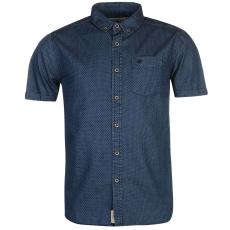 SoulCal Printed férfi rövid ujjú ing kék L