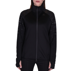 Adidas Performancetrac női cipzáras pulóver fekete M