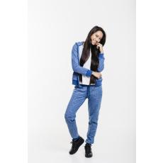 Dorko Basic Sweat Hoody Blue Marl női cipzáras pulóver kék L