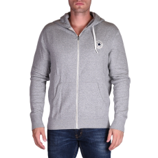 Converse Core Full Zip Hoodie férfi kapucnis cipzáras pulóver szürke L