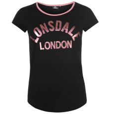 Lonsdale Logo női póló fekete L