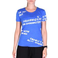 Adidas Aop T-shirt női póló kék 34