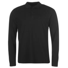 Pierre Cardin Férfi galléros hosszú ujjú póló fekete L