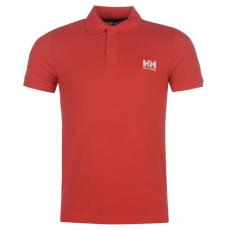 Helly Hansen Logo férfi galléros póló piros L