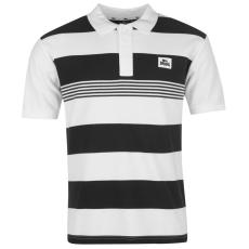 Lonsdale Férfi galléros póló fekete 3XL
