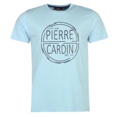 Pierre Cardin Print férfi póló világoskék XL