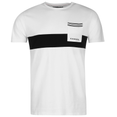Kangol Block Stripe férfi póló fekete XL