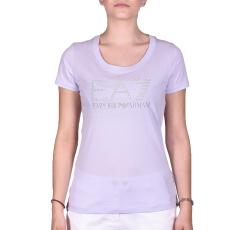 Emporio Armani Womans Knit Jersey női póló lila M