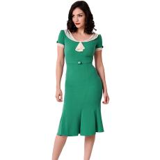 Csakcsajok Fehér-zöld ivory ruha