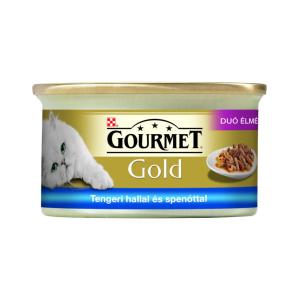 Purina Gourmet Gold Tengeri hallal, spenótos szószban 85 g duó élmény
