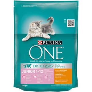 Purina ONE Junior Csirke és teljes kiőrlésű gabonák 200 g