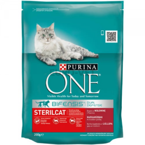 Purina One Adult Sterilcat Marha+búza 200 g