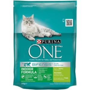 Purina ONE Indoor Pulyka és teljes kiőrlésű gabonák 200 g