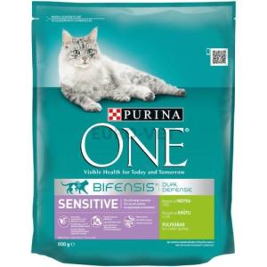 Purina ONE Adult Sensitive Pulyka+rizs 800 g